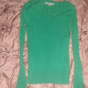 Old Navy Lightweight Green Sweater Sz Xs